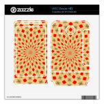 Modelo abstracto colorido agradable HTC desire HD calcomanías