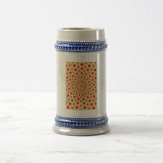 Modelo abstracto colorido agradable jarra de cerveza