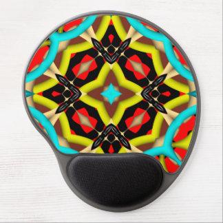 Modelo abstracto colorido alfombrilla gel