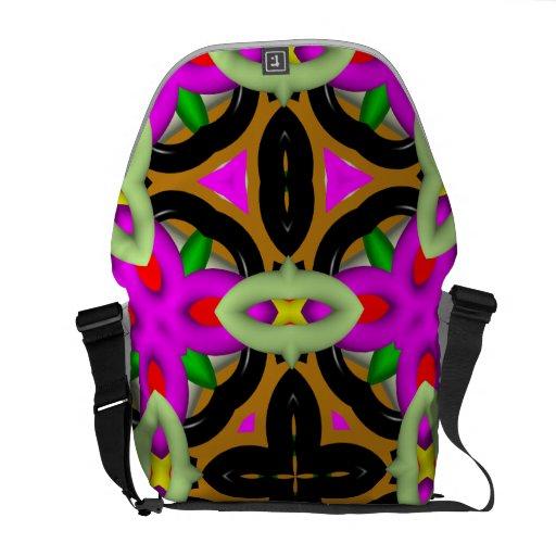 Modelo abstracto colorido bolsa messenger