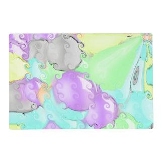Modelo abstracto colorido brillante extraño tapete individual