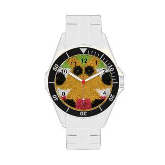 Modelo abstracto colorido con la criatura extraña reloj