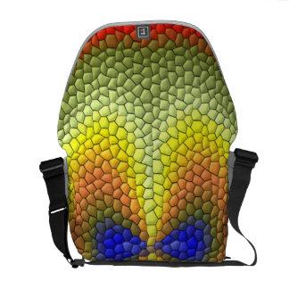 Modelo abstracto colorido de la teja bolsa de mensajeria