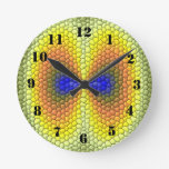 Modelo abstracto colorido de la teja reloj