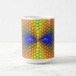 Modelo abstracto colorido de la teja tazas de café