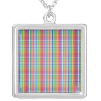 Modelo abstracto colorido de la tela escocesa colgante cuadrado