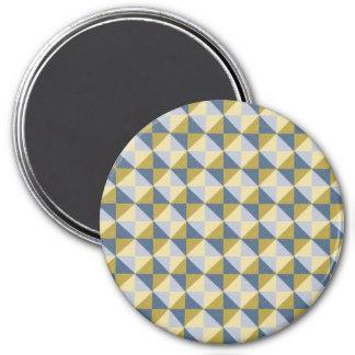 modelo abstracto colorido del cuadrado y del imán redondo 7 cm