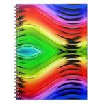Modelo abstracto colorido del diseño cuaderno