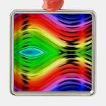Modelo abstracto colorido del diseño ornaments para arbol de navidad
