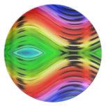 Modelo abstracto colorido del diseño plato