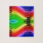 Modelo abstracto colorido del diseño rompecabeza con fotos
