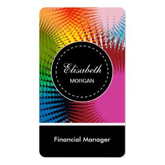Modelo abstracto colorido del encargado financiero tarjetas de visita