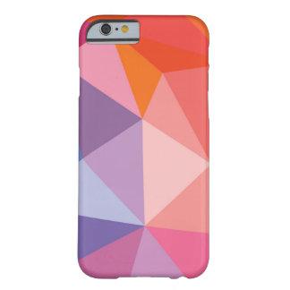 Modelo abstracto colorido del triángulo funda de iPhone 6 barely there