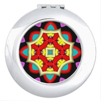 modelo abstracto colorido espejos compactos