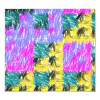 Modelo abstracto colorido cojinete