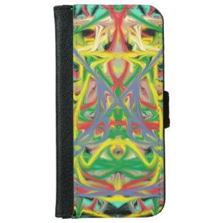 Modelo abstracto colorido funda cartera para iPhone 6