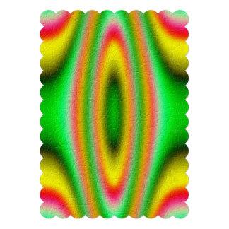 Modelo abstracto colorido invitaciones personales