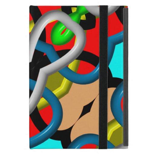 Modelo abstracto colorido iPad mini coberturas
