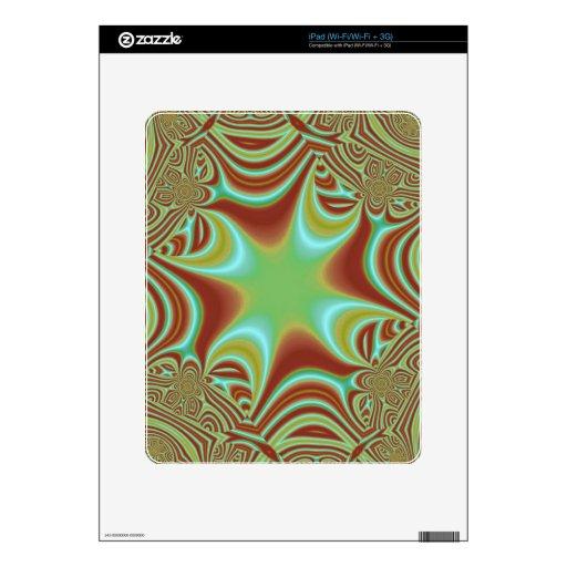 modelo abstracto colorido iPad skins