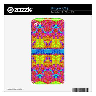 Modelo abstracto colorido: iPhone 4 skins