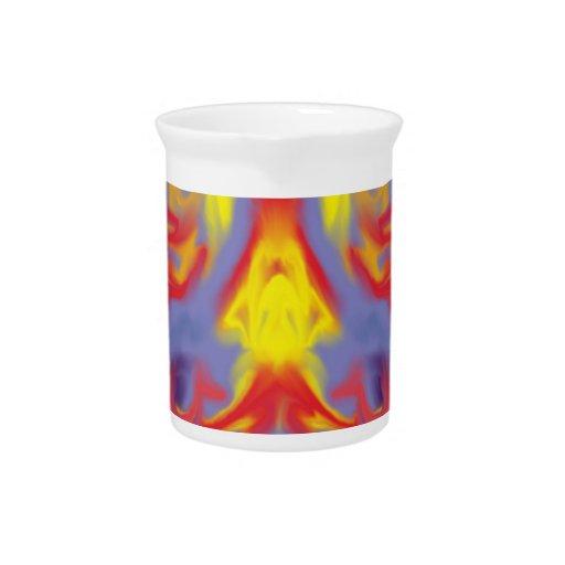 Modelo abstracto colorido jarron