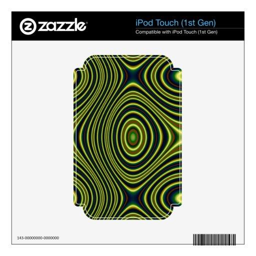 Modelo abstracto colorido calcomanía para iPod touch