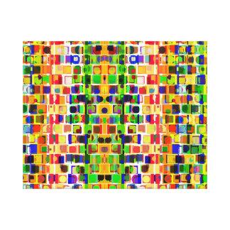 Modelo abstracto colorido loco que va lona estirada galerias