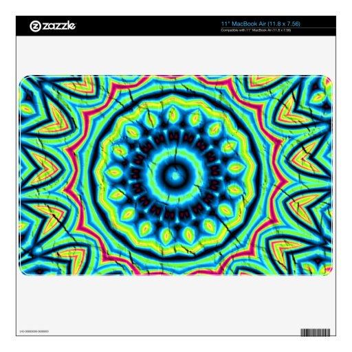 Modelo abstracto colorido MacBook calcomanías