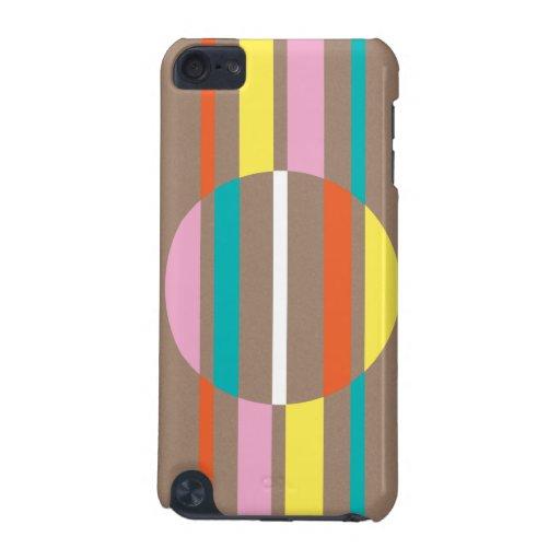 Modelo abstracto colorido moderno de las rayas funda para iPod touch 5G