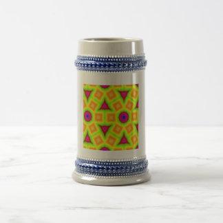 Modelo abstracto colorido moderno taza