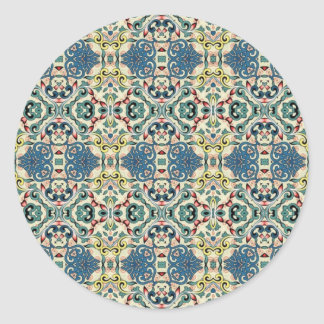 Modelo abstracto colorido pegatina redonda