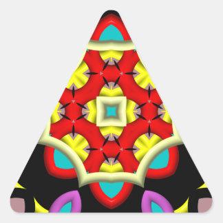 modelo abstracto colorido pegatina triangular