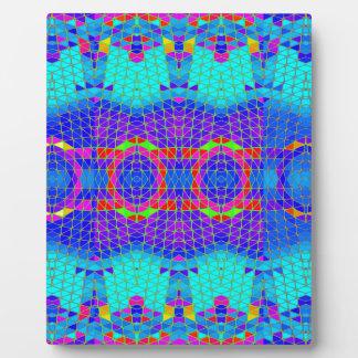 Modelo abstracto colorido: placa