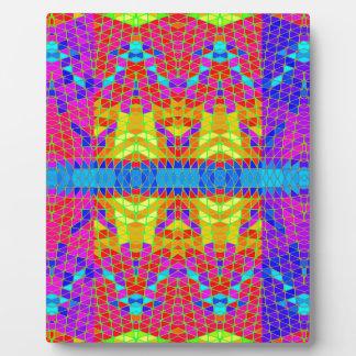 Modelo abstracto colorido: placa para mostrar