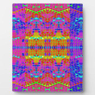 Modelo abstracto colorido: placas