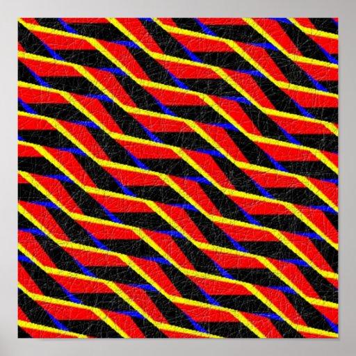 Modelo abstracto colorido póster