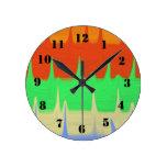 Modelo abstracto colorido reloj de pared