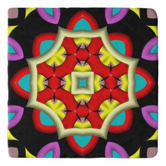 modelo abstracto colorido salvamanteles