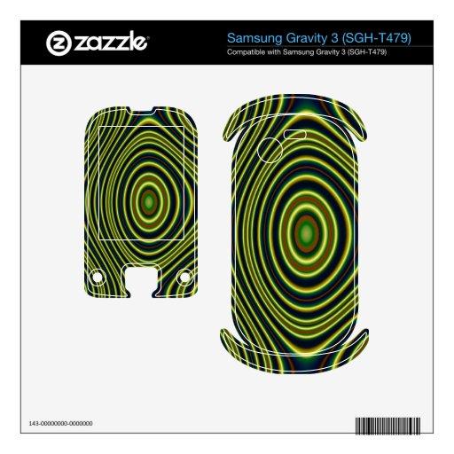 Modelo abstracto colorido samsung gravity 3 skin
