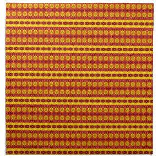 Modelo abstracto colorido servilletas