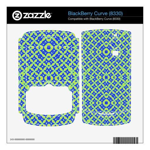 Modelo abstracto colorido calcomanías para BlackBerry