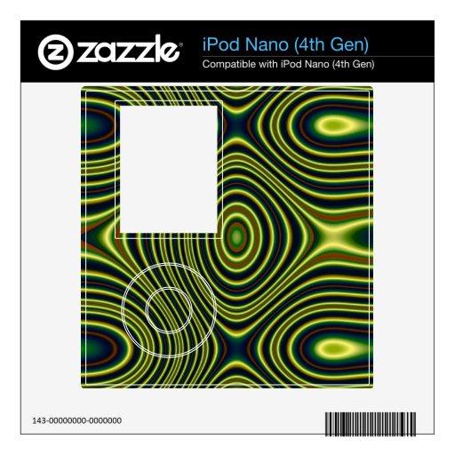 Modelo abstracto colorido skins para eliPod nano