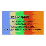 Modelo abstracto colorido plantillas de tarjeta de negocio