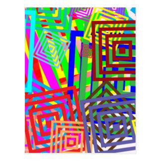Modelo abstracto colorido postales