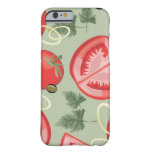 Modelo abstracto con el tomate funda barely there iPhone 6