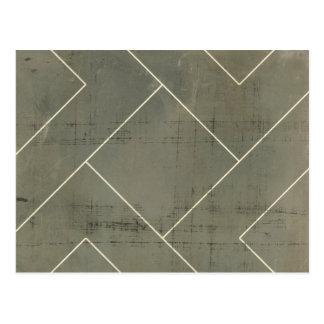 Modelo abstracto con formas geométricas tarjeta postal