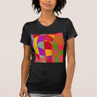 Modelo abstracto con la serpentina elegante brilla camisetas