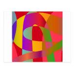 Modelo abstracto con la serpentina elegante brilla tarjeta postal