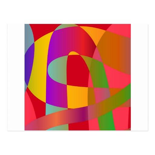 Modelo abstracto con la serpentina elegante tarjeta postal