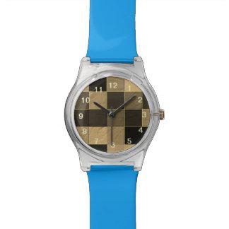 Modelo abstracto cuadrado relojes de pulsera